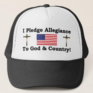 I Plege Allegiance To God & Country Trucker Hat