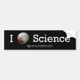 I (Pluto's heart) Science sticker Bumper Sticker