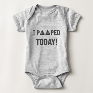 I Pooped Today Baby Bodysuit