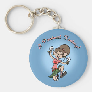 I Pooped Today! -f Basic Round Button Key Ring