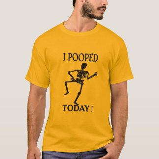 i pooped today funny t-shirt design hipster