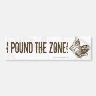 I Pound the Zone! Bumpersticker Car Bumper Sticker