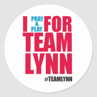 I Pray & Play For Team Lynn Sticker