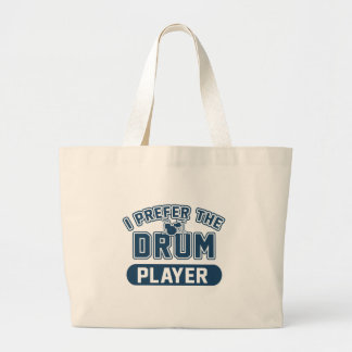 I Prefer The Drum Player Large Tote Bag