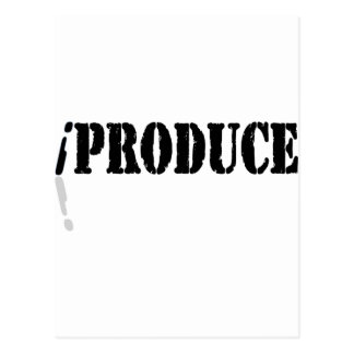 I Produce Postcard