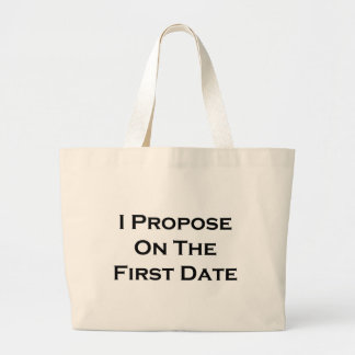 I Propose On The First Date Canvas Bags