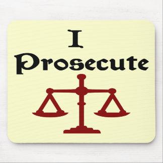 I Prosecute Lawyer Mousepad