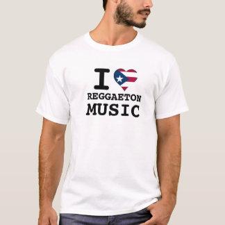 I Puerto Rican Heart REGGAETON Music T-Shirt