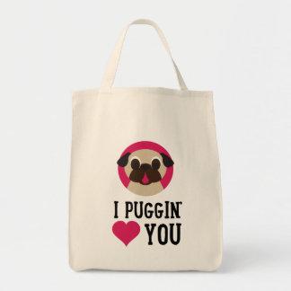 I Puggin' Love You Pug Tote
