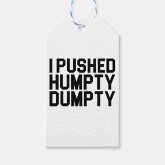 I Pushed Humpty Dumpty Gift Tags