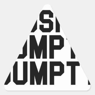 I Pushed Humpty Dumpty Triangle Sticker
