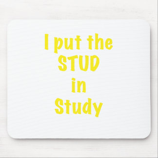 I put the STUD in Study Mouse Pad