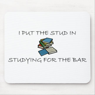 I Put The Stud In Studying For The Bar Mouse Pad