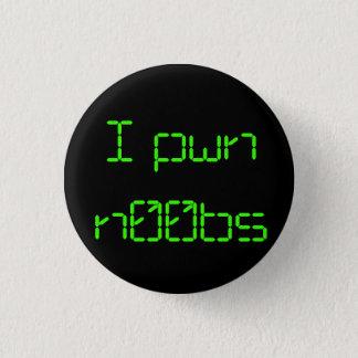 I pwn n00bs 3 cm round badge