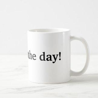 I quit for the day basic white mug
