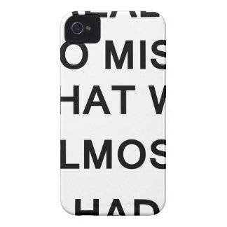i raelly do miss what we almost had iPhone 4 Case-Mate case