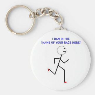 I ran in the... basic round button key ring