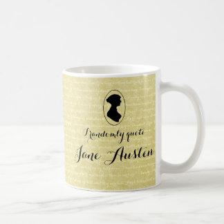 I randomly quote Jane Austen Coffee Cup Basic White Mug