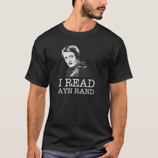 I read Ayn Rand libertarian T-Shirt