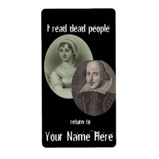 I Read Dead People Bookplate ..