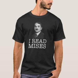 I read Mises libertarian T-Shirt