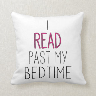 I Read Past My Bedtime Cushion