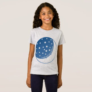 I Read Past My Bedtime Stylized Girl's T-shirt