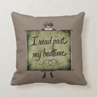 I Read Past My Bedtime Vintage Cushion