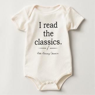 I read the classics logo baby kids shirt