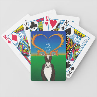 I Really Caribout You Bicycle Playing Cards