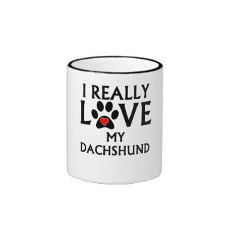 I Really Love My Dachshund Mug