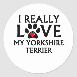 I Really Love My Yorkshire Terrier Sticker