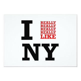 I Really Really Really Like NY 13 Cm X 18 Cm Invitation Card