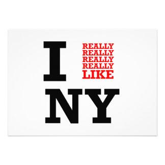 I Really Really Really Like NY Invitations