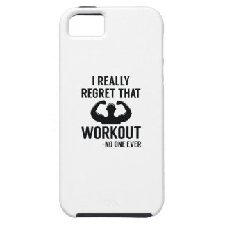 I Really Regret That Workout iPhone 5 Case