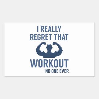 I Really Regret That Workout Rectangular Sticker