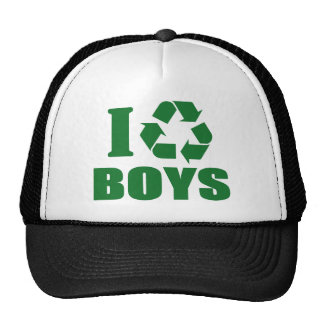 I Recycle Boys Mesh Hat
