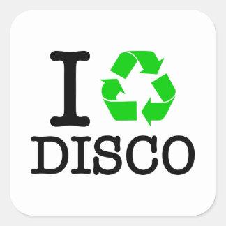 I Recycle Disco Sticker