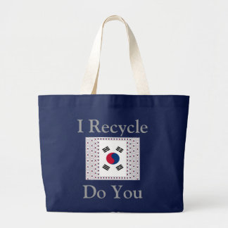 I Recycle Do You South Korea Large Tote Bag