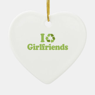 I recycle girlfriends ceramic heart decoration