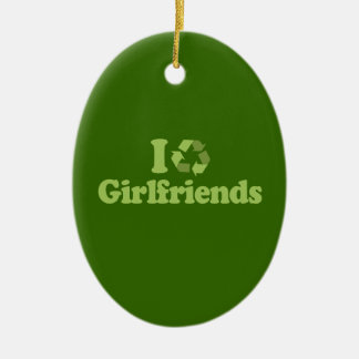 I RECYCLE GIRLFRIENDS CERAMIC OVAL DECORATION