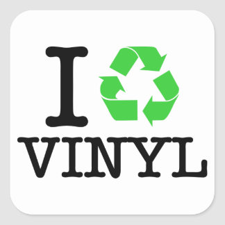 I Recycle Vinyl Square Sticker