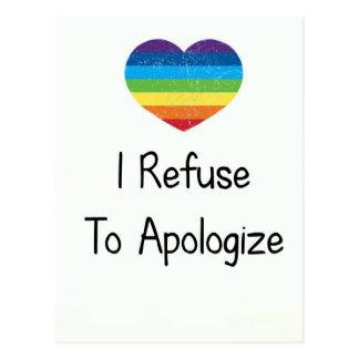 I Refuse to Apologize Postcard