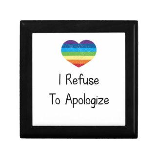 I Refuse to Apologize Small Square Gift Box