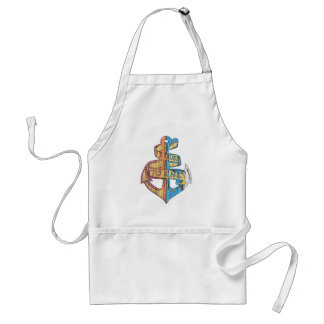 """I Refuse to Sink"" Quote Nautical Anchor Standard Apron"