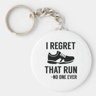 I Regret That Run Key Ring