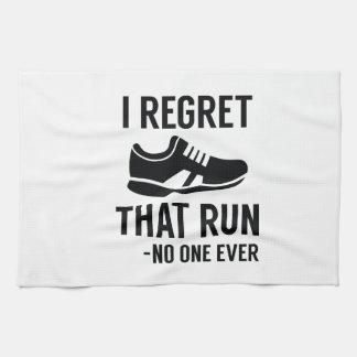 I Regret That Run Tea Towel