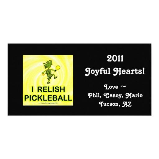 I Relish Pickleball Shirts & Gifts Personalised Photo Card