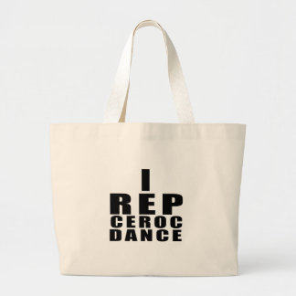 I REP CEROC DANCE DESIGNS LARGE TOTE BAG