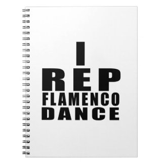 I REP FLAMENCO DANCE DESIGNS SPIRAL NOTEBOOK